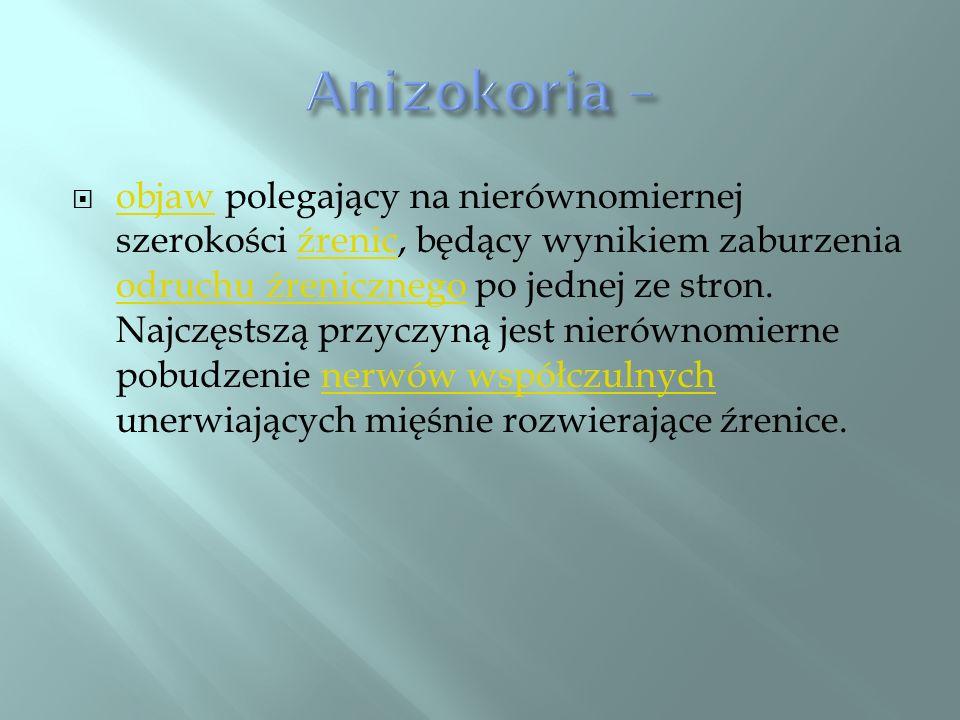 Anizokoria –
