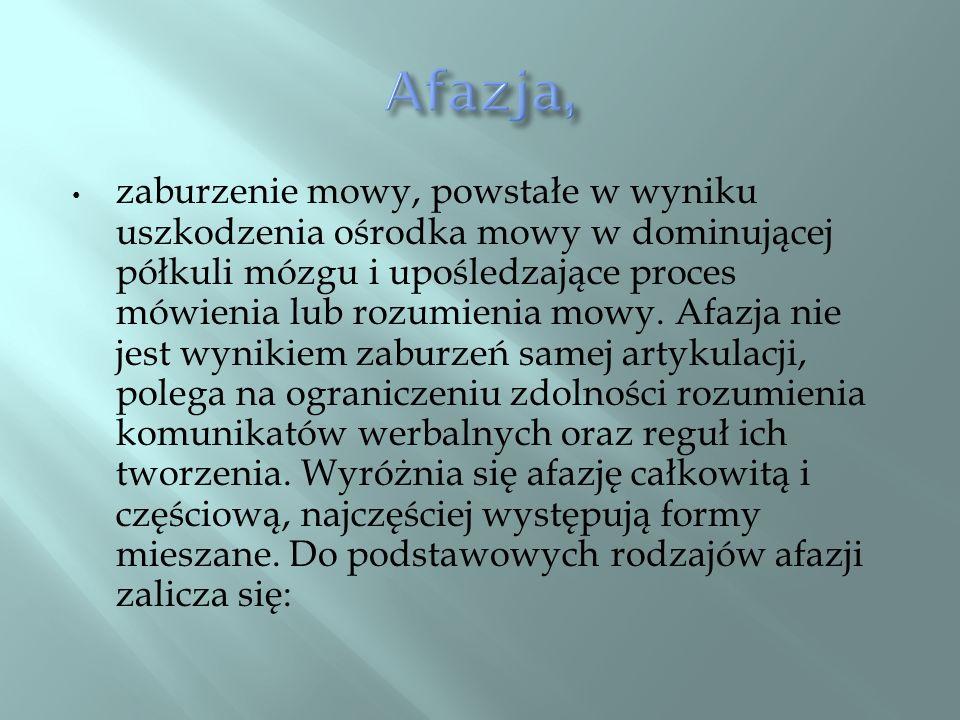 Afazja,