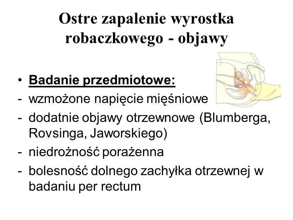 Ostre zapalenie wyrostka robaczkowego - objawy