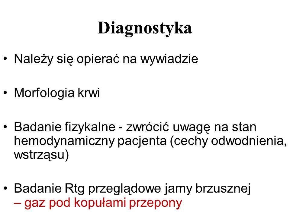 Diagnostyka Należy się opierać na wywiadzie Morfologia krwi