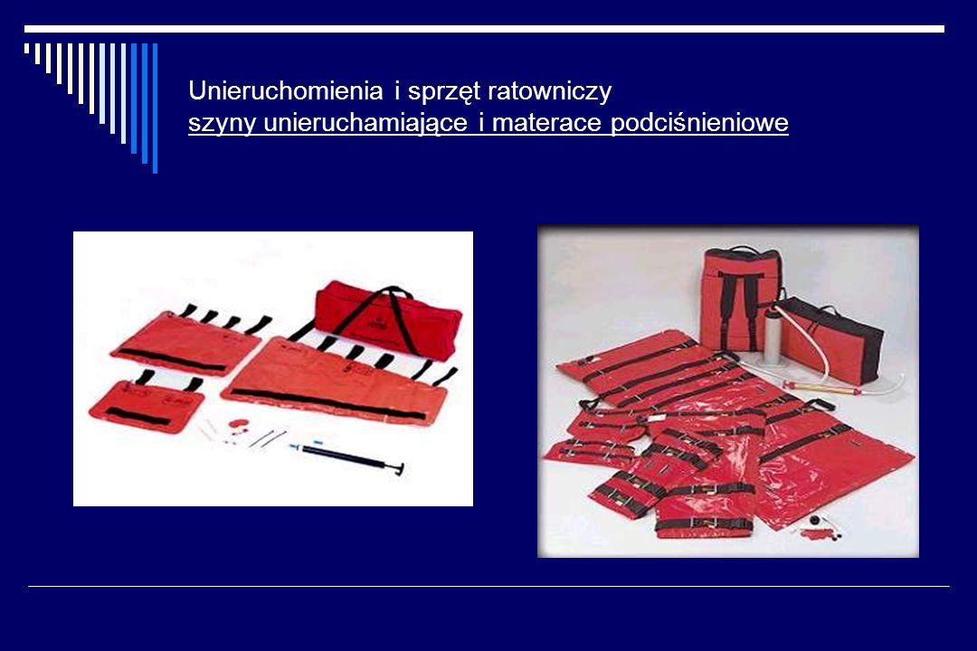 Unieruchomienia i sprzęt ratowniczy szyny unieruchamiające i materace podciśnieniowe