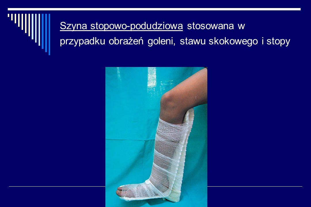Szyna stopowo-podudziowa stosowana w przypadku obrażeń goleni, stawu skokowego i stopy