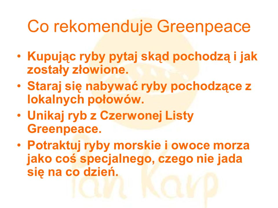 Co rekomenduje Greenpeace