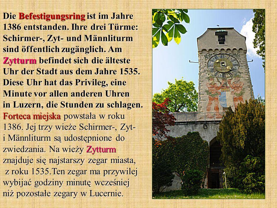 Die Befestigungsring ist im Jahre 1386 entstanden