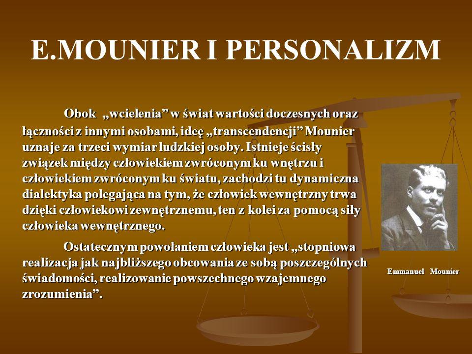 E.MOUNIER I PERSONALIZM