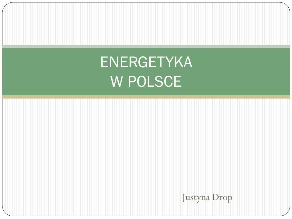 ENERGETYKA W POLSCE Justyna Drop