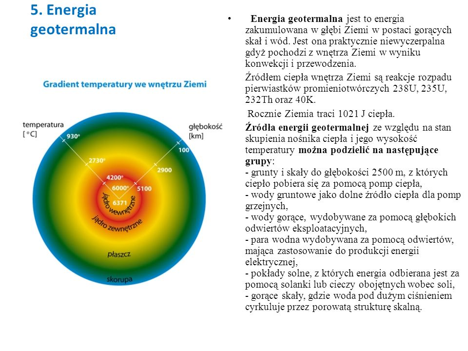 5. Energia geotermalna
