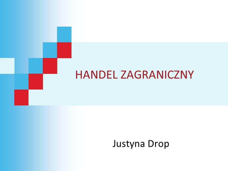 HANDEL ZAGRANICZNY Justyna Drop