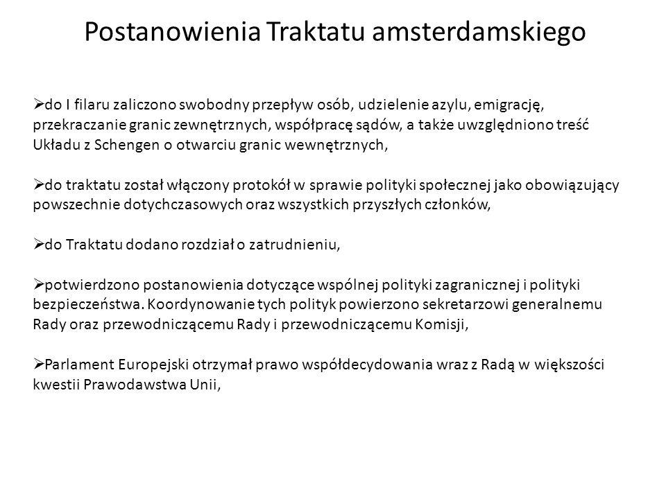 Postanowienia Traktatu amsterdamskiego