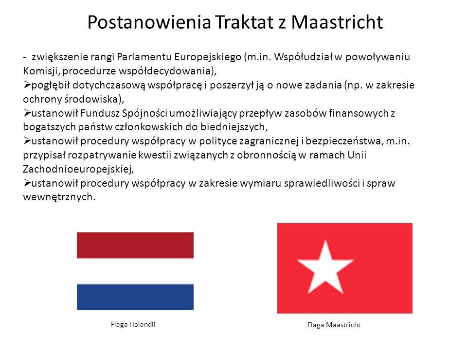 Postanowienia Traktat z Maastricht