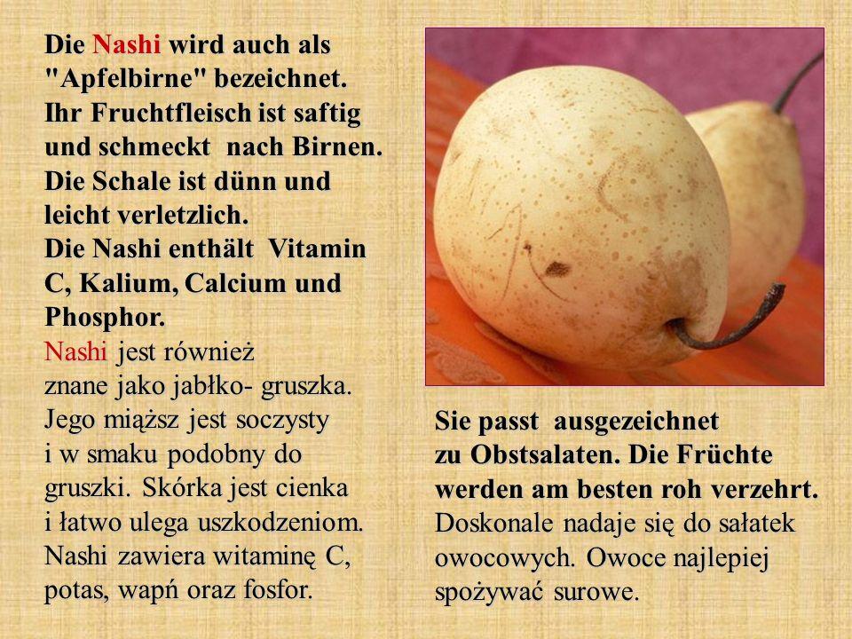 Die Nashi wird auch als Apfelbirne bezeichnet
