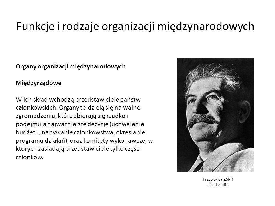 Funkcje i rodzaje organizacji międzynarodowych
