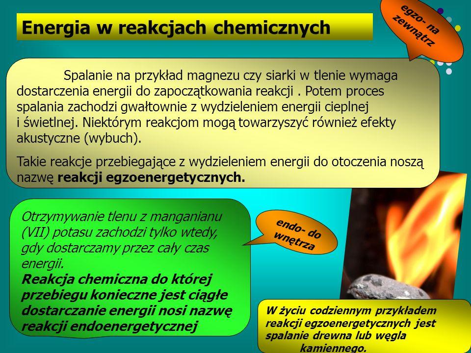 Energia w reakcjach chemicznych