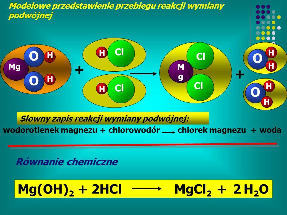 O O + + O O Mg(OH)2 + 2HCl MgCl2 + 2 H2O Cl Cl Cl Cl