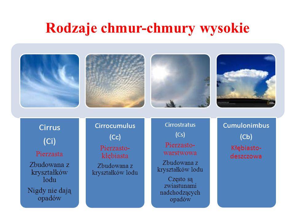Rodzaje chmur-chmury wysokie