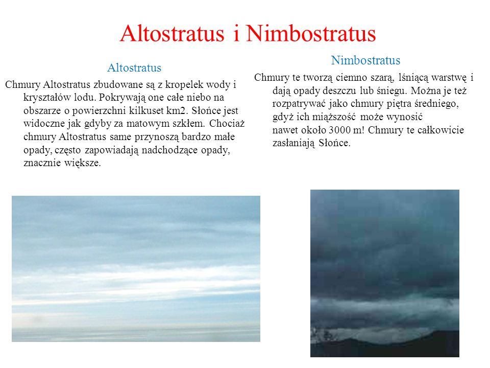 Altostratus i Nimbostratus