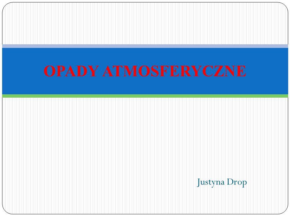OPADY ATMOSFERYCZNE Justyna Drop