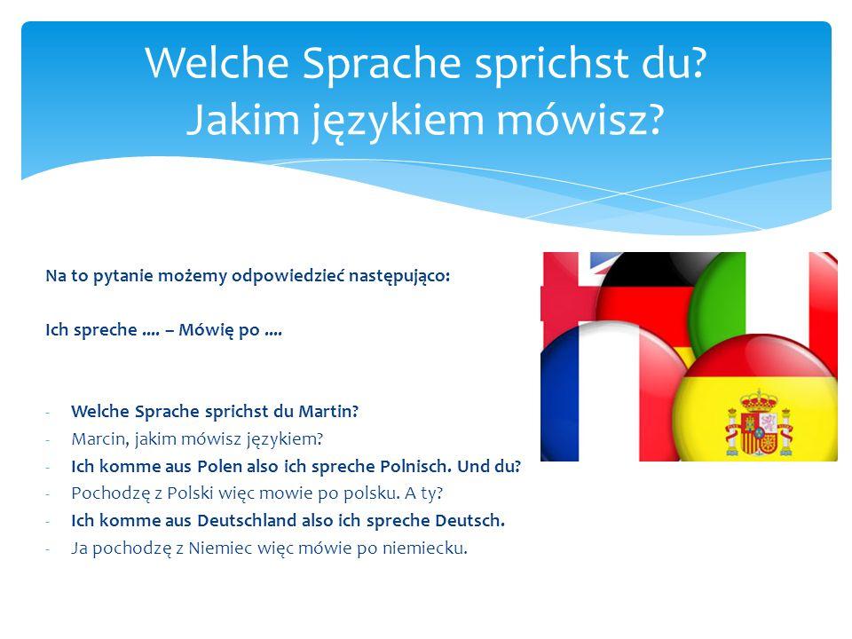 Welche Sprache sprichst du Jakim językiem mówisz