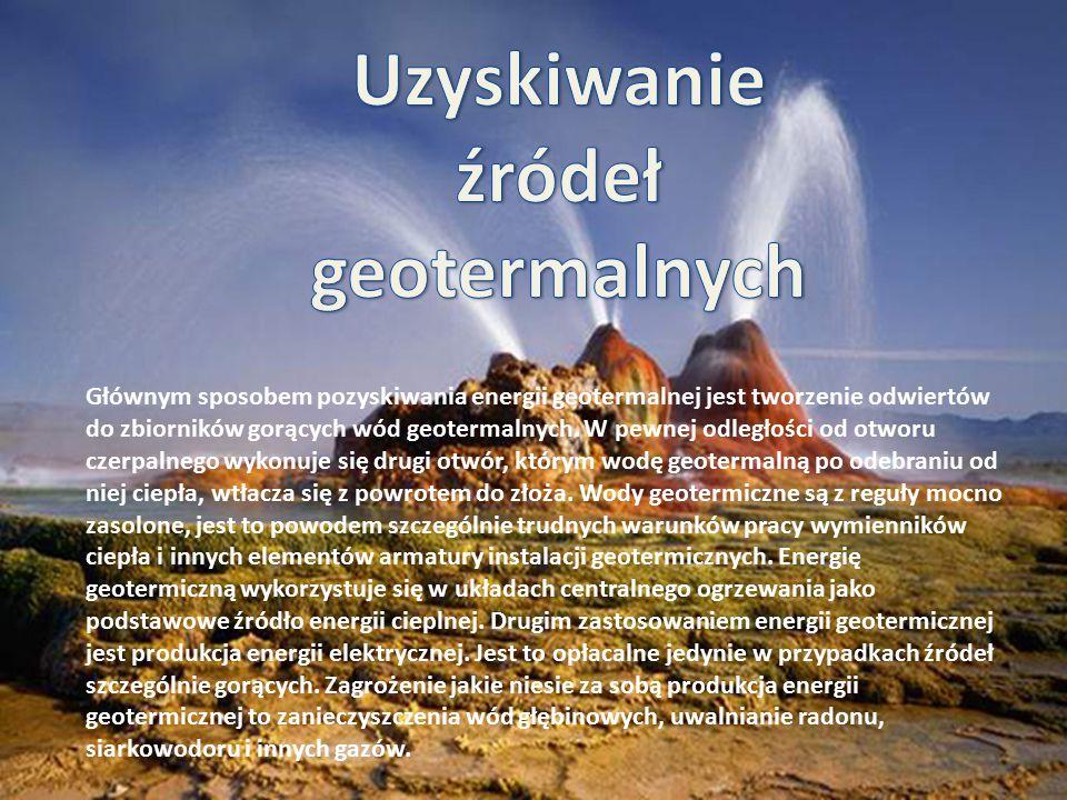 Uzyskiwanie źródeł geotermalnych