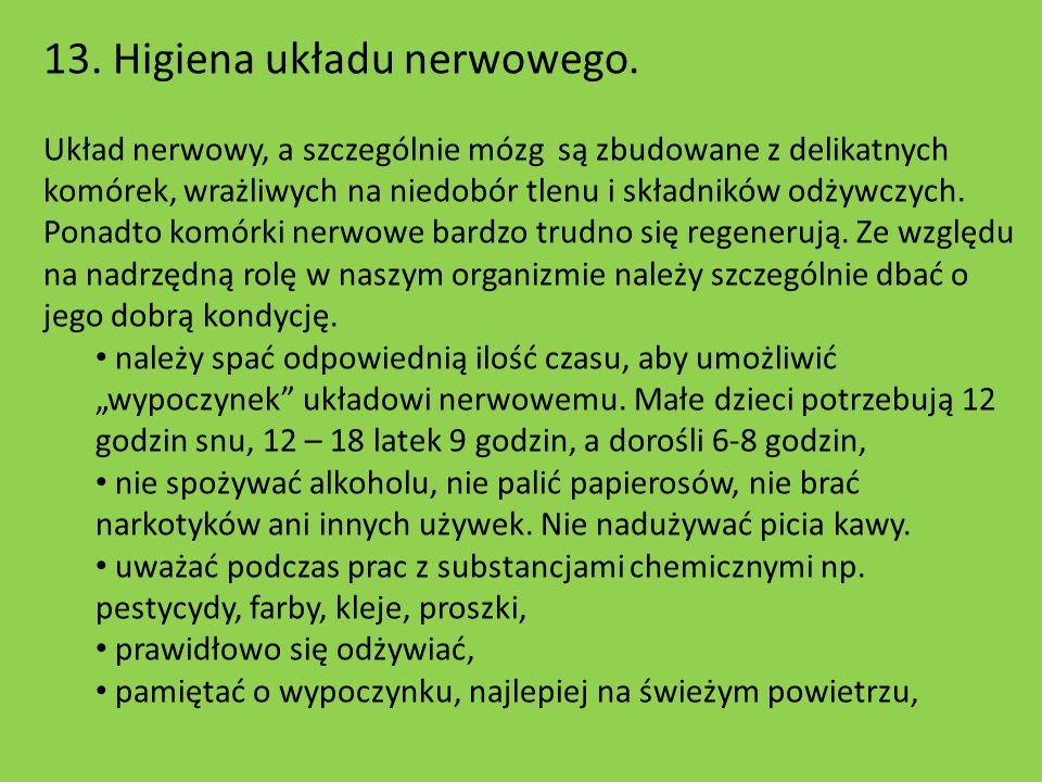 13. Higiena układu nerwowego.