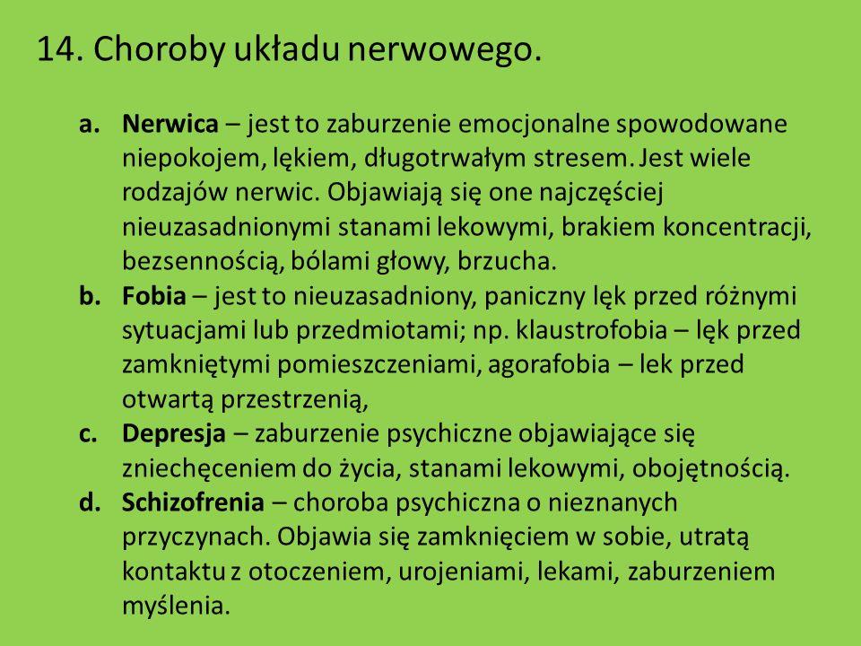 14. Choroby układu nerwowego.