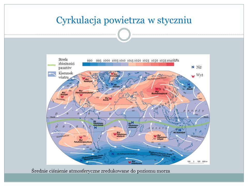 Cyrkulacja powietrza w styczniu