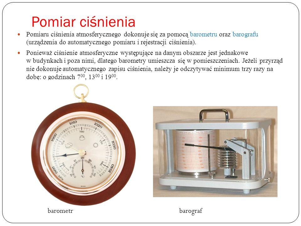 Pomiar ciśnienia barometr barograf