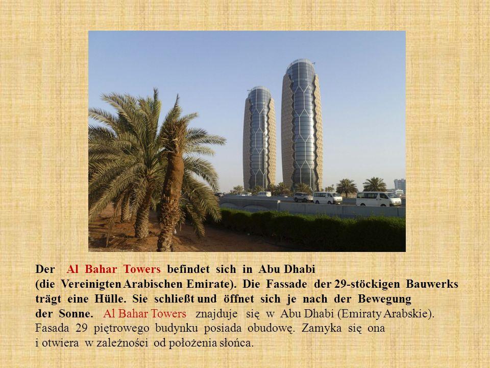 Der Al Bahar Towers befindet sich in Abu Dhabi (die Vereinigten Arabischen Emirate).
