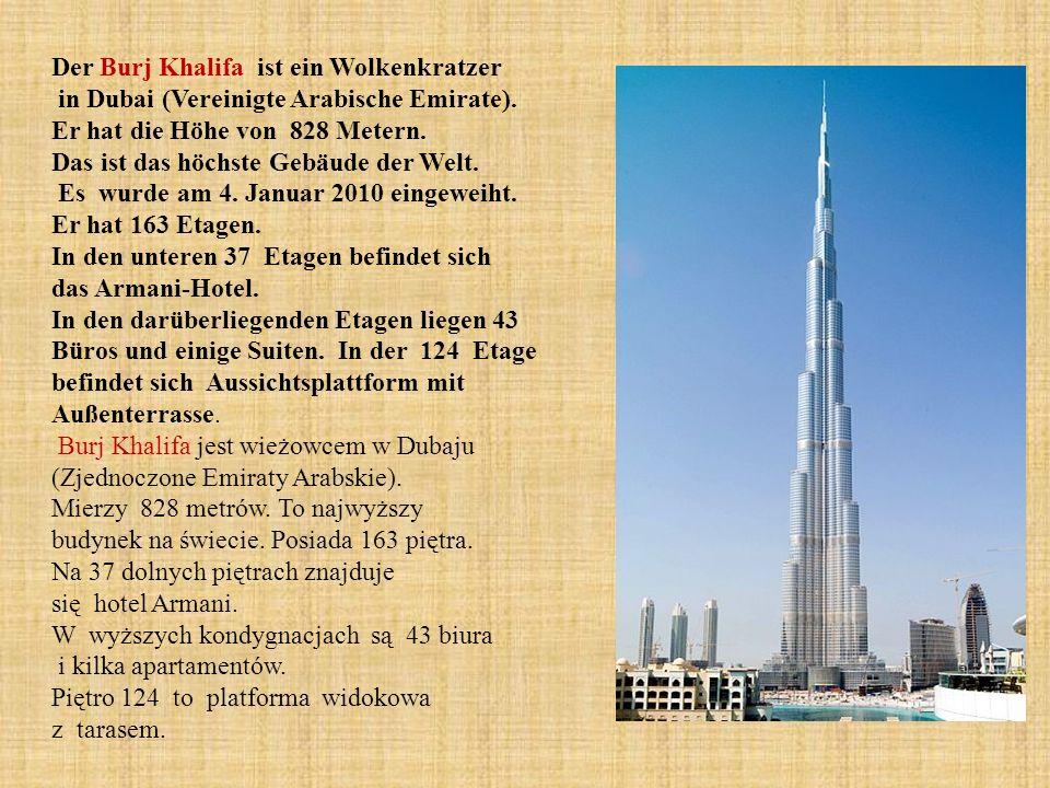 Der Burj Khalifa ist ein Wolkenkratzer in Dubai (Vereinigte Arabische Emirate).