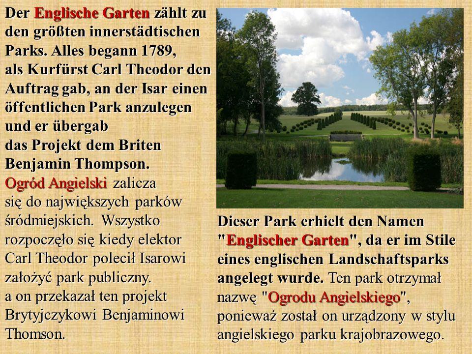 Der Englische Garten zählt zu den größten innerstädtischen Parks