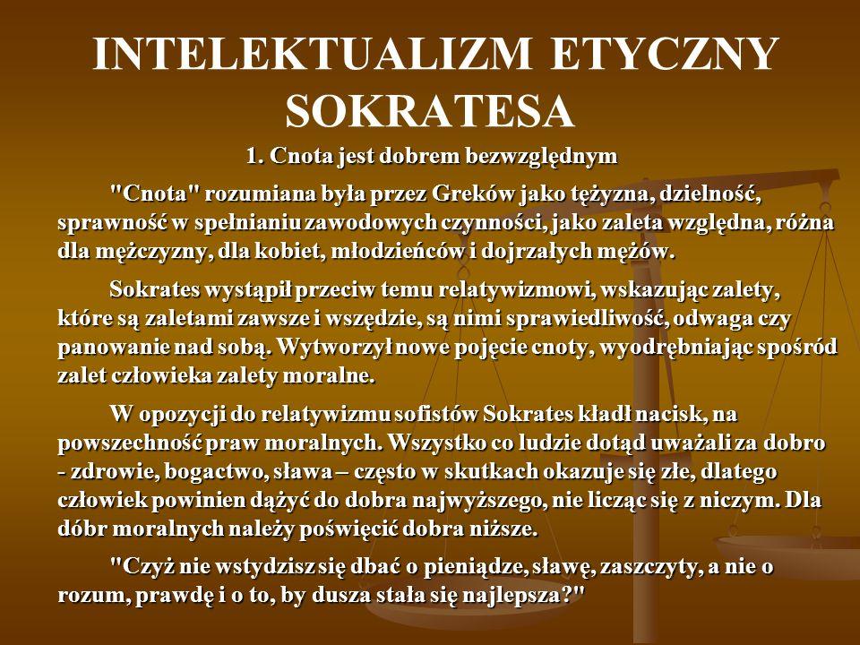 INTELEKTUALIZM ETYCZNY SOKRATESA