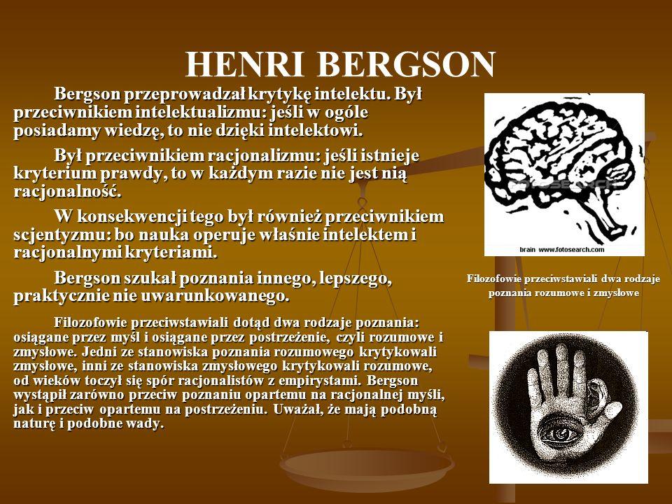 Filozofowie przeciwstawiali dwa rodzaje poznania rozumowe i zmysłowe