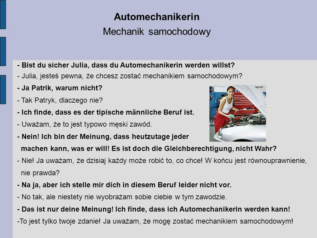 Automechanikerin Mechanik samochodowy