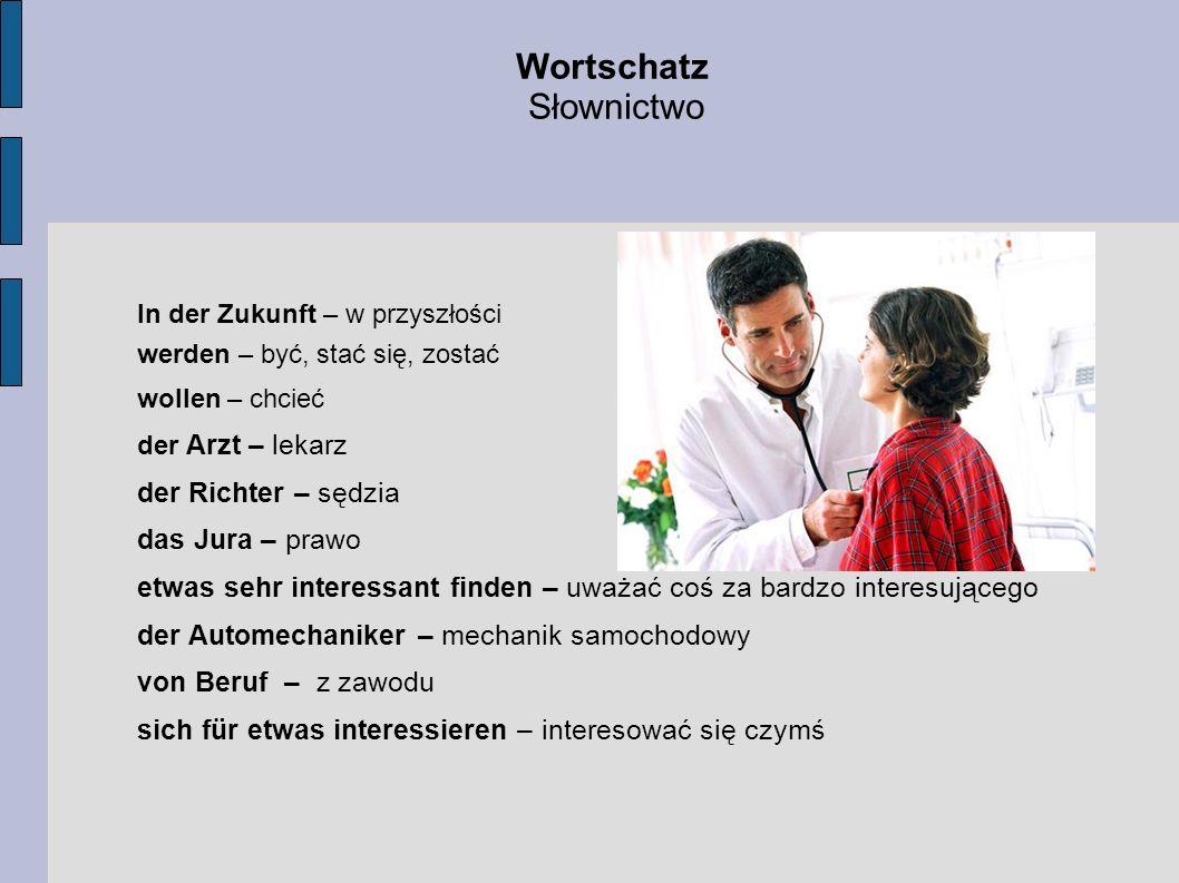 Wortschatz Słownictwo der Richter – sędzia das Jura – prawo