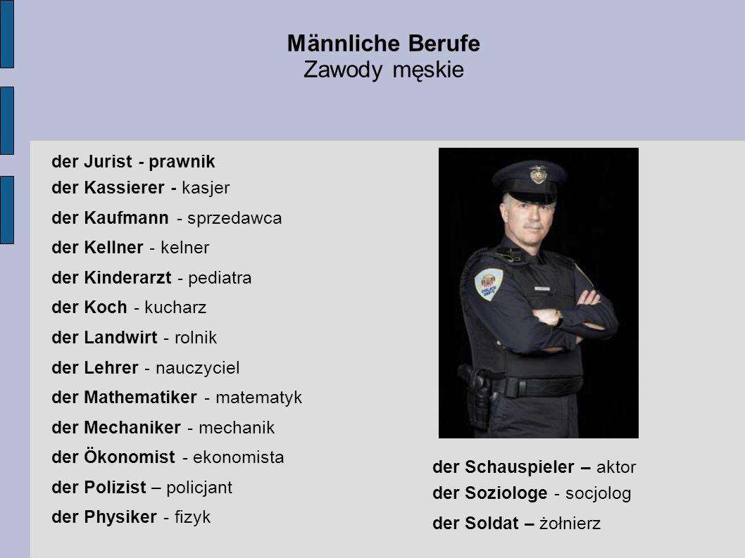 Männliche Berufe Zawody męskie der Jurist - prawnik
