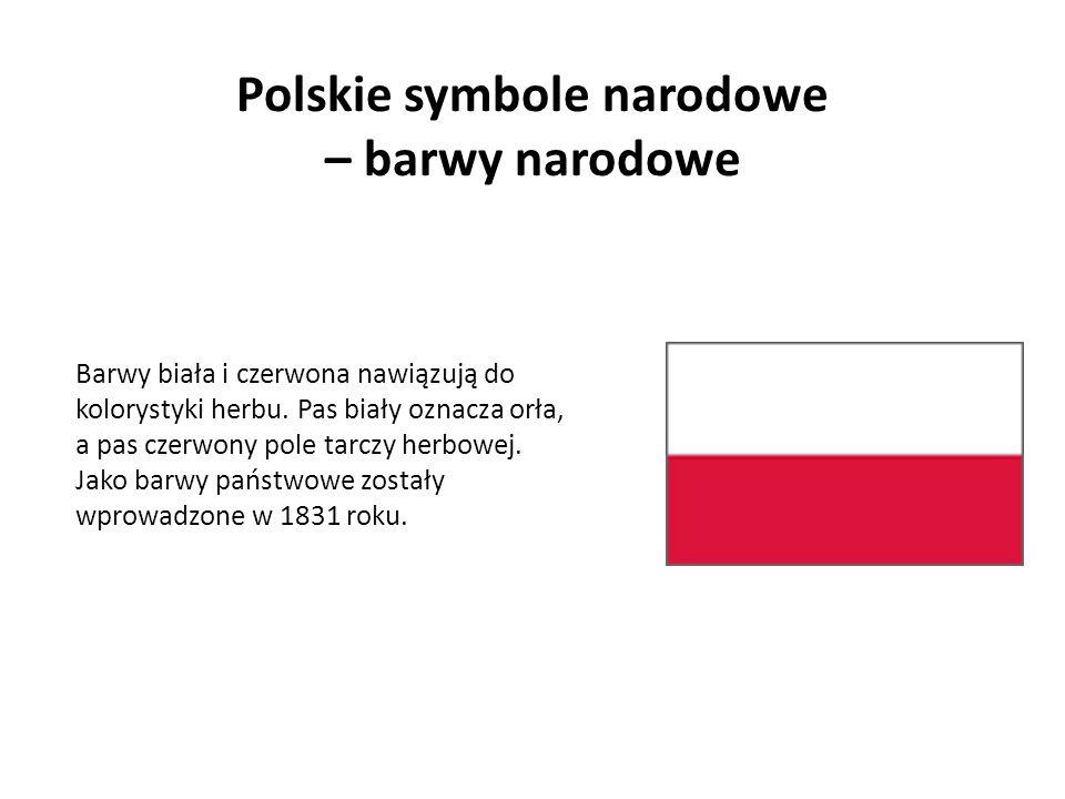 Polskie symbole narodowe – barwy narodowe