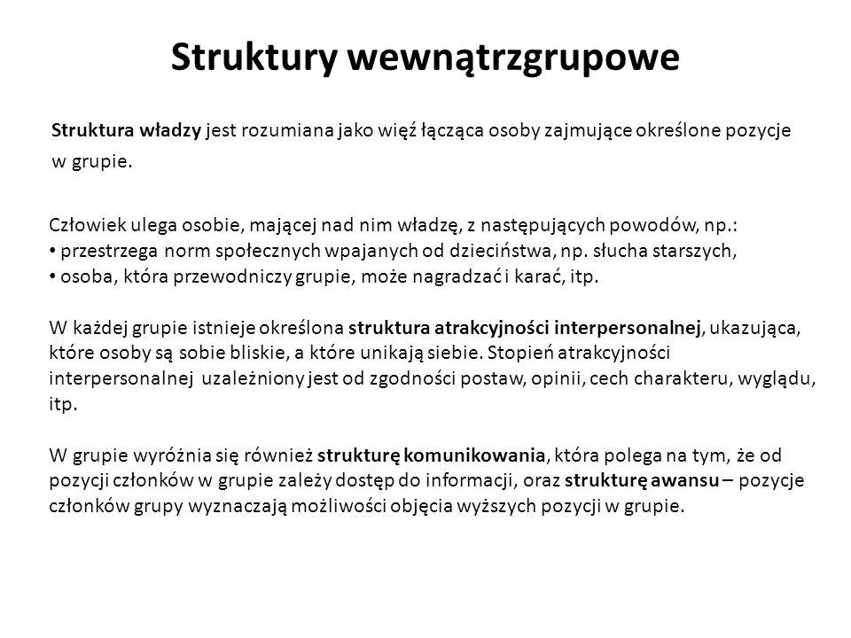 Struktury wewnątrzgrupowe