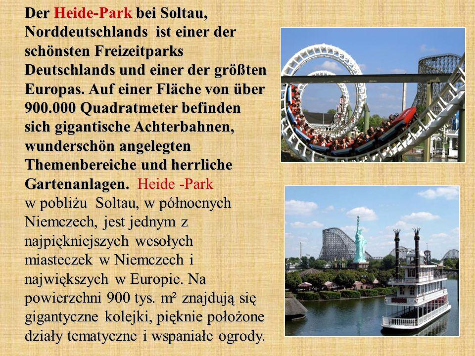 Der Heide-Park bei Soltau, Norddeutschlands ist einer der schönsten Freizeitparks Deutschlands und einer der größten Europas.