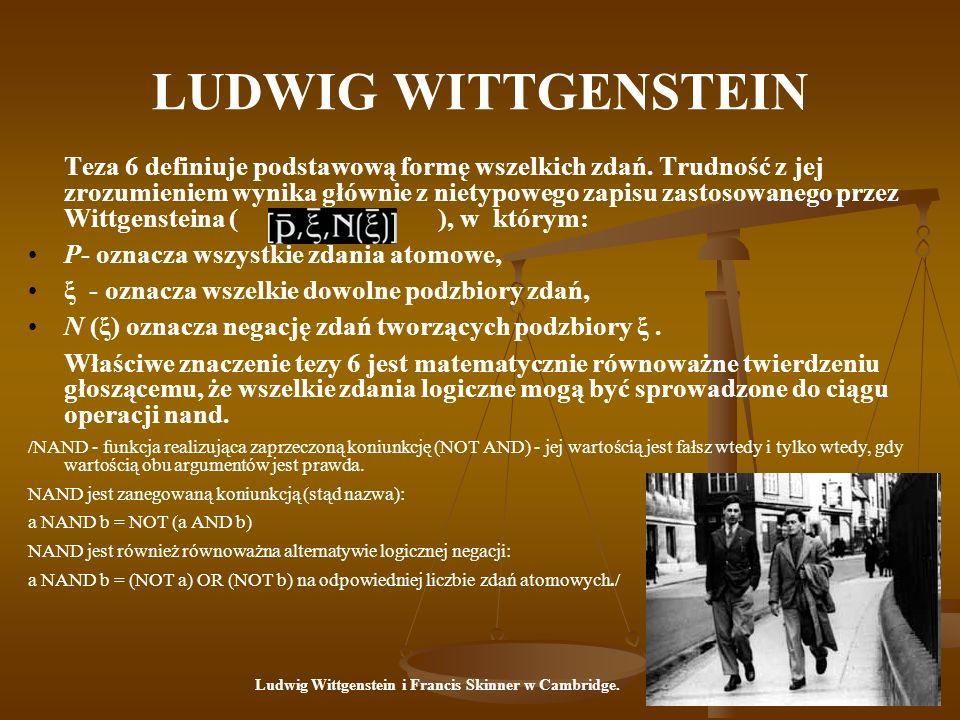 Ludwig Wittgenstein i Francis Skinner w Cambridge.