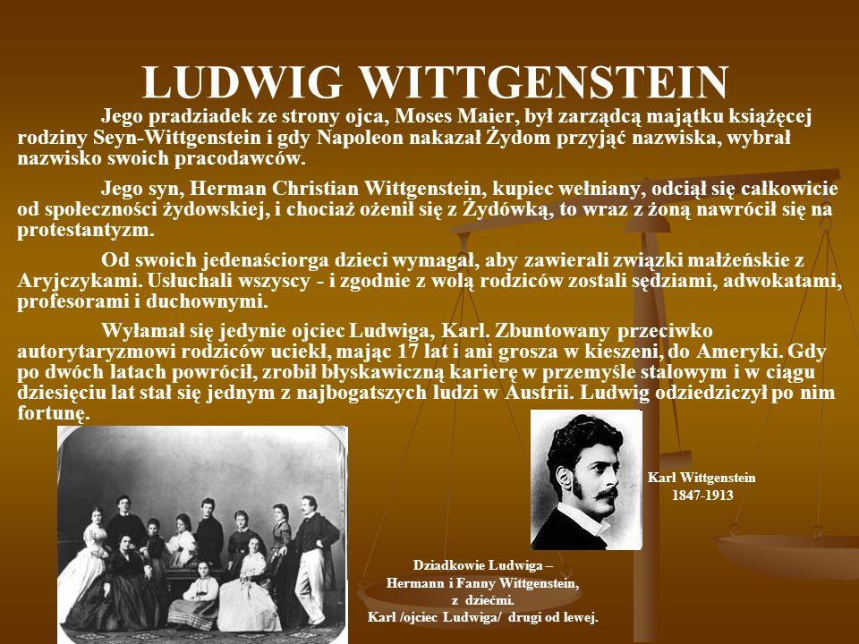 Hermann i Fanny Wittgenstein, Karl /ojciec Ludwiga/ drugi od lewej.