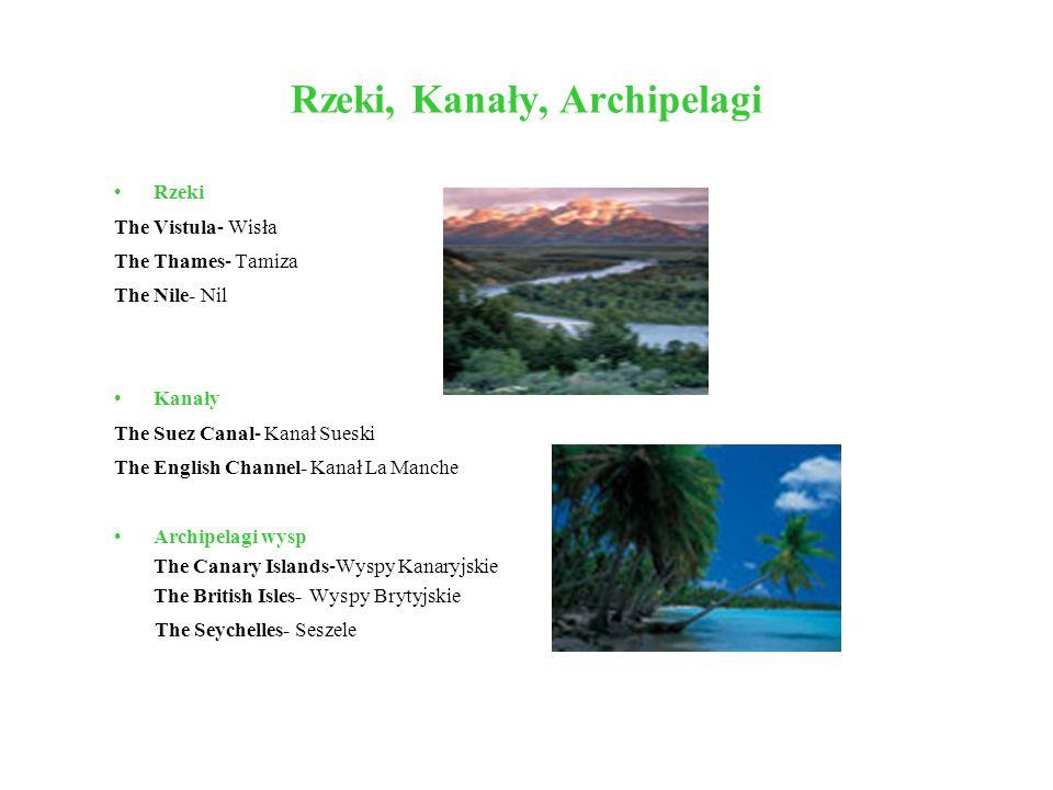 Rzeki, Kanały, Archipelagi