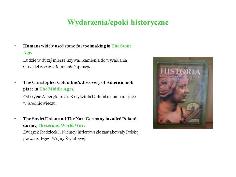Wydarzenia/epoki historyczne