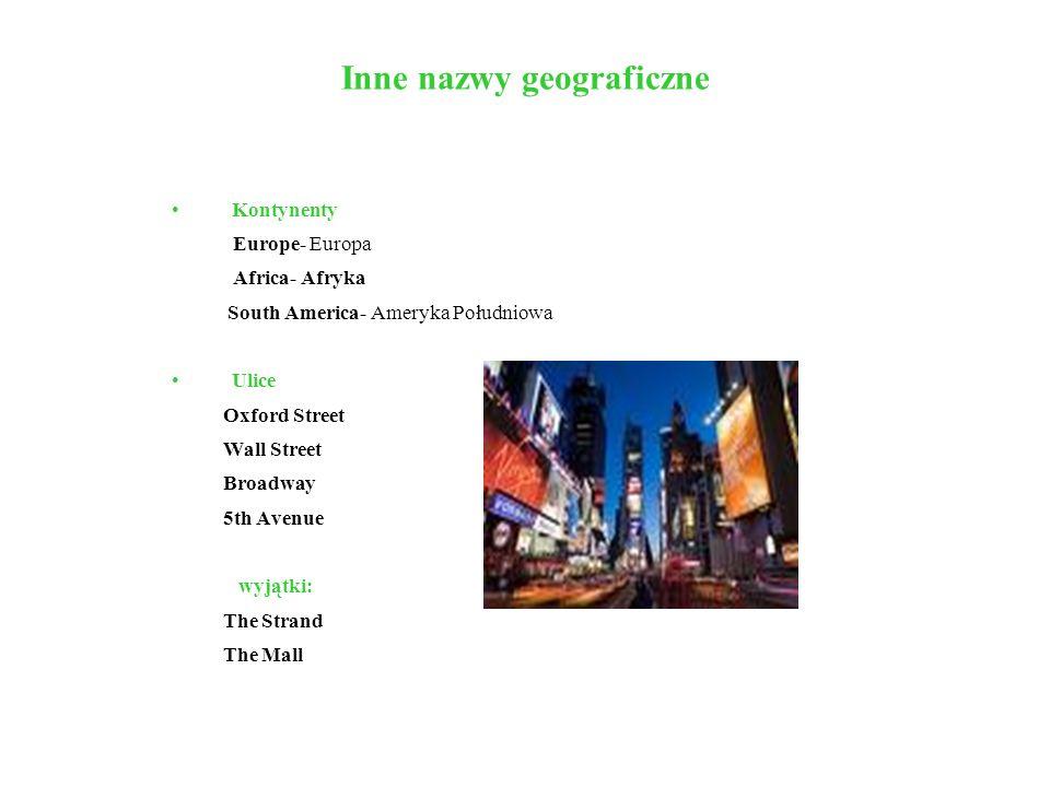 Inne nazwy geograficzne