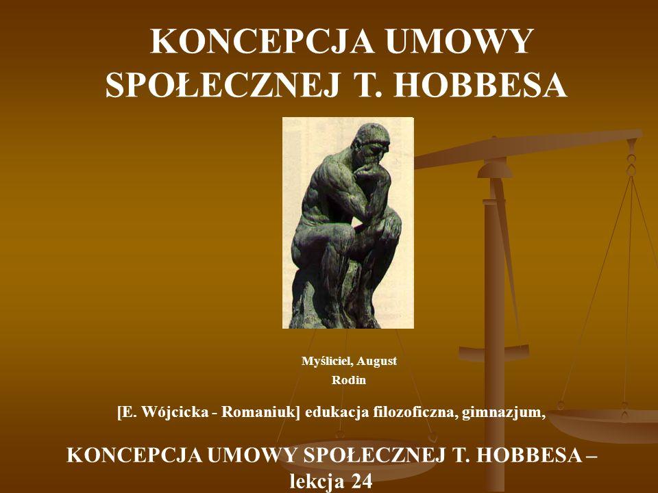 KONCEPCJA UMOWY SPOŁECZNEJ T. HOBBESA