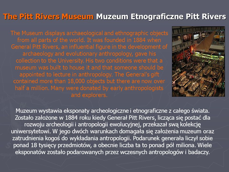 The Pitt Rivers Museum Muzeum Etnograficzne Pitt Rivers