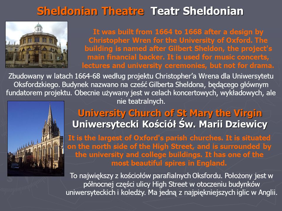 Sheldonian Theatre Teatr Sheldonian