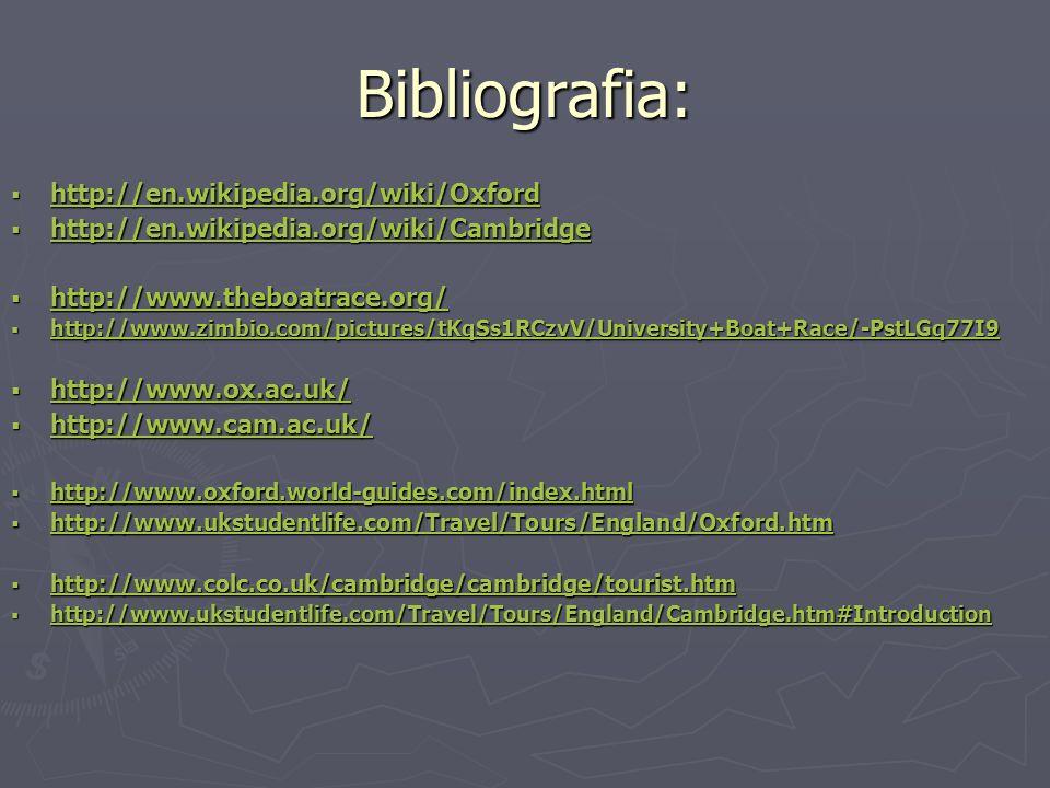 Bibliografia: http://en.wikipedia.org/wiki/Oxford