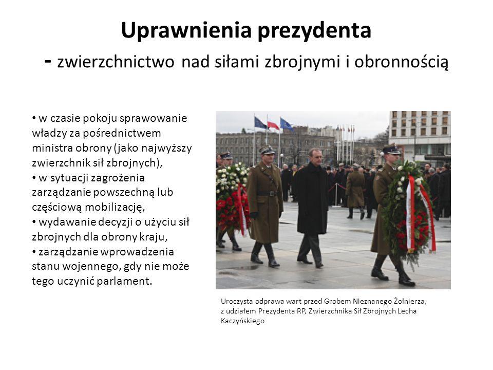 Uprawnienia prezydenta - zwierzchnictwo nad siłami zbrojnymi i obronnością
