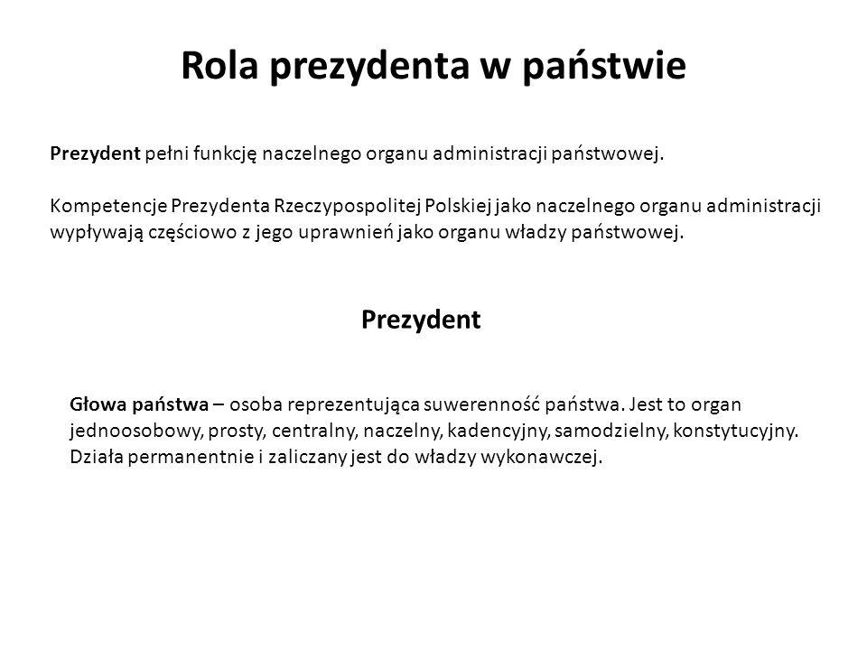 Rola prezydenta w państwie