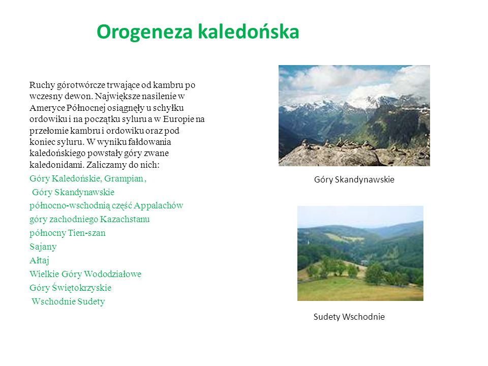 Orogeneza kaledońska